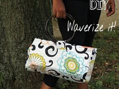 My homemade handbag using #waverizeit fabric!