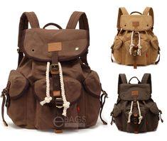 Men s Travel Canvas Tactical Backpack Laptop Sport Shoulder School Hiking  Bag   19.98 End Date  73924f52ec7