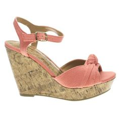 29ae8a4530e Delicious Women s SUSIE Open Toe Wedge Platform High Heel Sandal Shoe in  Peach. Fabrics.