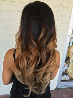Black to blonde balayage ombré