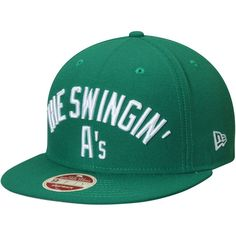0e272d58d13c0 Oakland Athletics New Era Cooperstown Collection Team Callout 9FIFTY  Snapback Adjustable Hat - Green