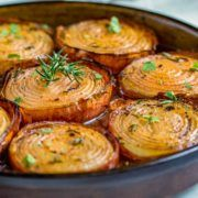 These marinated slow roasted onions get soft and creamy on the inside and caramelize on the outside for a killer side dish The aroma is so mouthwatering and everyone rave about them Give them a try Vegetable Sides, Vegetable Side Dishes, Vegetable Recipes, Vegetarian Recipes, Cooking Recipes, Healthy Recipes, Veggie Recipes Sides, Baked Onions, Roasted Onions