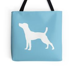 'Jack Russell Silhouette' by OutlineArt Silhouette S, Little Dogs, Reusable Tote Bags, Pets, Little Puppies, Small Dogs, Animals And Pets