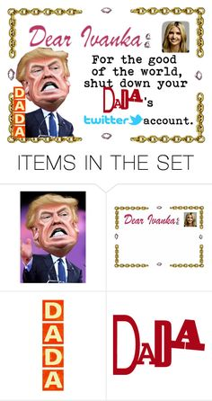 """Dada's Twitter"" by merimagic ❤ liked on Polyvore featuring art and country"