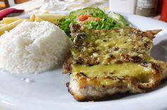 Grilled fish over garlic sauce La Perla del Sur Restaurant Sierpe, Costa Rica #food #foodie #travel