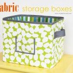 """Make your own storage box.  Now I just need my """"sewing"""" daughter to make a variety of sized for me :)"""