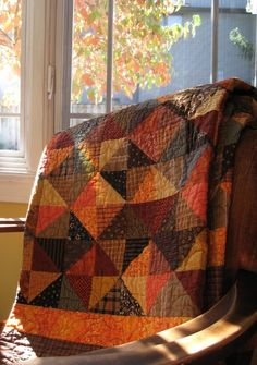 Look at all the fall color in this quilt