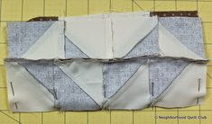 Neighborhood Quilt Club: Starting Point - Quilt Block Tutorial Pinwheel Quilt Pattern, Quilt Patterns, Quilt In A Day, Flannel Boards, Half Square Triangles, Block Of The Month, Quilt Blocks, The Neighbourhood, Club