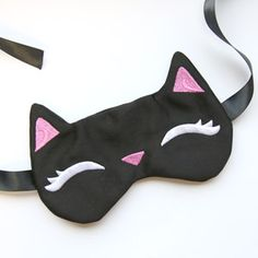 Sleepy Kitty Eye Mask (In the Hoop) design (UTZ2186) from UrbanThreads.com