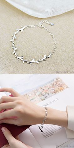 Silver Bracelets For Women, Cute Bracelets, Silver Bangles, Silver Cuff, Silver Charms, Fashion Bracelets, Link Bracelets, Sterling Silver Bracelets, Silver Jewelry