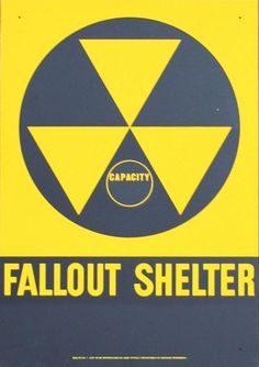 Mint Condition Fallout Shelter sign, issued by the Dept. of Defense in the 1960's. $175.00