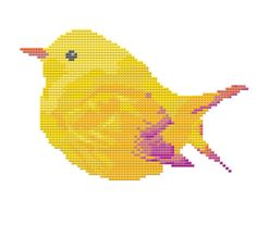 Cross Stitch Pattern - Bird - Cute Colorful Yellow Bird - Instant Download by LeiaPatterns http://ift.tt/2iJNUw4