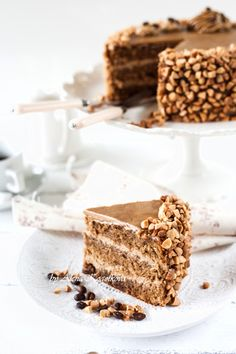 Mocha Cake by Pierre Herme with coffee buttercream and coffee genoise! (scroll down to the bottom of the page for recipe in English!!)