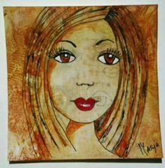 Drawned by myself and colored with Encaustic wax.  www.marjasstampaddiction.blogspot.nl www.marjascreativity.blogspot.nl