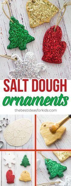 saltdough ornament recipe #christmascrafts