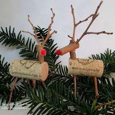 twig amp cork reindeer, crafts, home decor, seasonal holiday d cor, wreaths