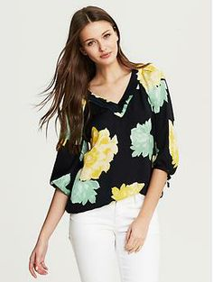 Bold Floral Top. Great for spring!