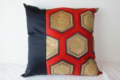 Antique Kimono Obi Cushion Cover Japanese Silk by KimonoTango #throwpillow #homedecor