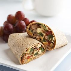 This delicious breakfast burrito will give your child nutrients to last him until lunch at school.