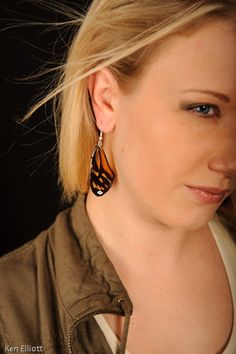 Real butterfly wing earrings!