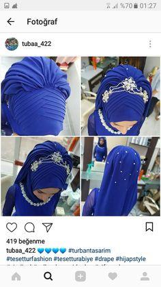 tesettür First Narration; Bridal Hijab, Hijab Wedding Dresses, Hijab Dress, Abaya Fashion, Modest Fashion, Turkish Wedding Dress, Hijab Turban Style, Simple Hijab, Hijab Tutorial