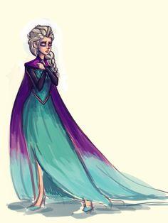 Queen Elsa_WIP by pandatails.deviantart.com on @deviantART
