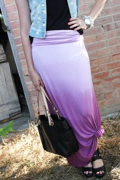 PURPLE OMBRE MAXI SKIRT