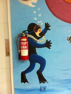 A Brilliant & Clever School Hallway Mural