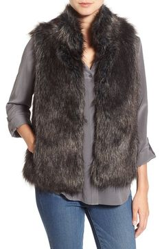 BB Dakota 'Colton' Faux Fur Vest available at #Nordstrom