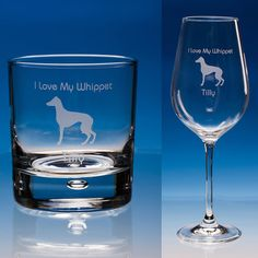Whippet Dog Wine or Whisky Glass, Personalised Gift, Whippet Lover Gift, Dog Lover Gift, Whippet Gift, Whippet Wine Glass, Whippet Dog