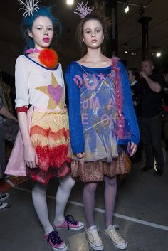 Check Fashion East AW13 backstage snaps as seen in the Topshop Showspace as part…