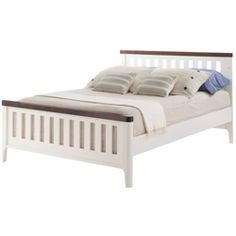 You'll love to watch your little boy drift off to sleep in this most comfortable and chic double bed. Elegant in its simplistic design with a bright and fresh look, the bed is finished in two starkly contrasting colors - French White and Java - for a really fashionable touch.