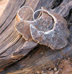 Sterling Silver Primitive Forged Hoop Earrings от DesertTalismans