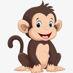 happy little monkey, Cartoon Comics, Animal Illustration, Cartoon Animals PNG and Vector