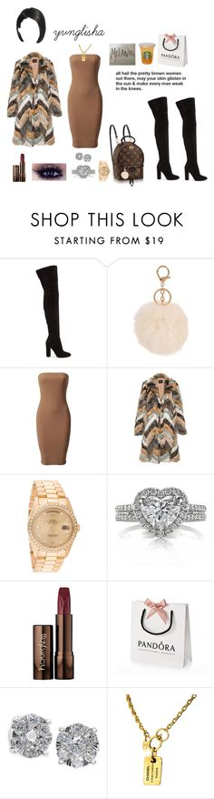 """brown skin girl"" by yvnglisha ❤ liked on Polyvore featuring Gianvito Rossi, Louis Vuitton, Rolex, Mark Broumand, Hourglass Cosmetics, Akira, Effy Jewelry and Chanel"
