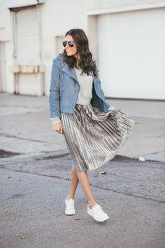 awesome С чем носить изящную плиссированную юбку? — Несколько правил для создания непревзойденного образа