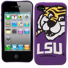LSU Tigers Mascot Silicone iPhone 4 Cover - $7.99