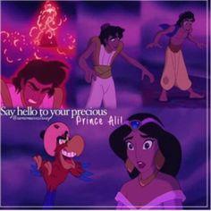 Say hello to prince Ali Disney Animated Movies, Disney Songs, Disney Quotes, Aladdin Quotes, Old Disney, Disney Love, Disney Magic, Aladdin And Jasmine, Princess Jasmine