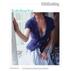 Few designs say summer like a pretty eyelet knitting using yarn overs. Dive in and give yarn overs a try with one of these Craftsy eyelet knitting patterns. Knit Vest Pattern, Shrug Pattern, Knitting Designs, Knitting Patterns, Vogue Knitting, Knitting Books, How To Start Knitting, Fair Isle Knitting, Knit Crochet