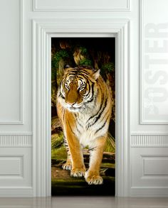 Extra long sticky poster Size x x cm Amazing illusion for your interior - wall or door High quality mat peel and stick film Comes rolled in a tube If Design Scandinavian, Design Apartment, Door Murals, Door Stickers, Red Cat, Vinyl Banners, Fauna, Interior Walls, Illusions