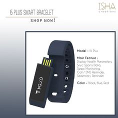 Plus Smart Bracelet for Sale for as low as Isha Creations is ISO 9001 and 2700 Certified Happy Shopping! Smart Bracelet, Shop Usa, South Korea, Happy Shopping, Smart Watch, Link, Smartwatch, Korea