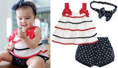 3pcs Baby Girl Kids Newborn Top Skirt Dress Headband+Pants Outfit Sets Clothing #DressyEverydayHolidayPageantWedding