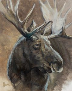 Custom painted murals by Utah mural artist Billy Hensler – Moose Portrait Moose Pics, Moose Pictures, Art Pictures, Animal Pictures, Photos, Wildlife Paintings, Wildlife Art, Animal Paintings, Animal Drawings