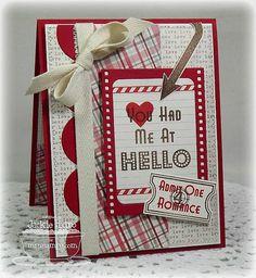 Cute love card using MFT stamps