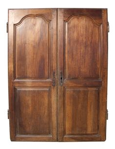 PAIR OF 18TH C. FRENCH WALNUT CUPBOARD DOORS   UK Architectural Heritage