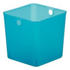 High Quality Room Essentials™ Plastic Cube Storage Bin   Turq