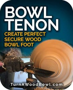 Bowl Tenon - Create perfect secure wood bowl foot - Turn A Wood Bowl Cool Wood Projects, Lathe Projects, Wood Turning Projects, Learn Woodworking, Woodworking Plans, Woodworking Projects, Wood Turning Lathe, Wood Lathe, Router Wood