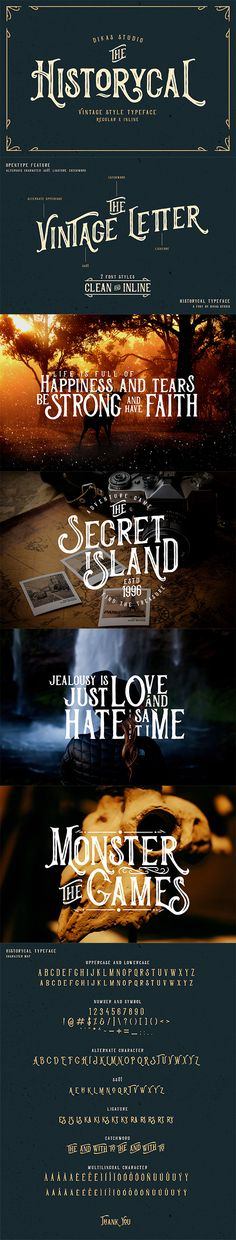 Historycal - 2 #Font Styles - Old English #Decorative Download here:  https://graphicriver.net/item/historycal-2-font-styles/20176901?ref=alena994