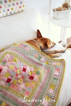 seidenfeins Blog vom schönen Landleben: Häkeldecke Quilt * Crochet Tutorial * Crochet Quilt Blanket