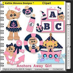 Anchors Away Girl Clipart - CU